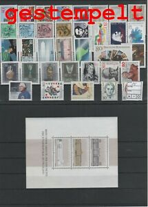 Germany-Federal-Frg-vintage-yearset-1986-Postmarked-Used-complete
