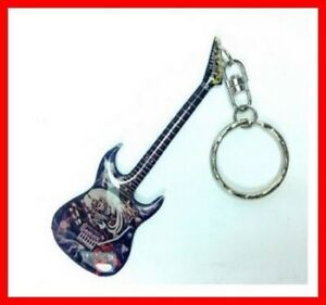 IRON-MAIDEN-PORTE-CLE-GUITARE-Eddie-Number-of-the-Beast-Hard-Rock-Metal-Heavy