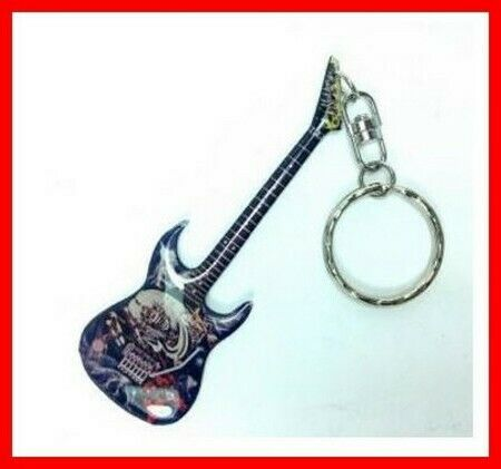IRON MAIDEN - PORTE CLE GUITARE! Eddie Number of the Beast Hard Rock Metal Heavy