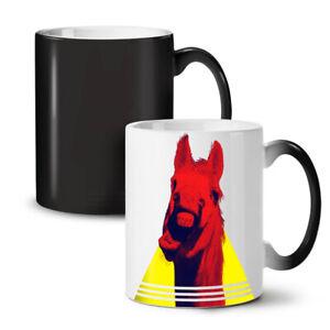 Funny Laugh Horse Animal NEW Colour Changing Tea Coffee Mug 11 oz | Wellcoda