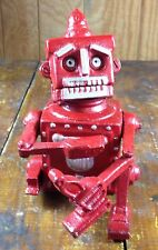 ROBERT THE ROBOT 1950 SPACE AGE TOY CAST IRON MECHANICAL BANK SIGNED HUBLEY