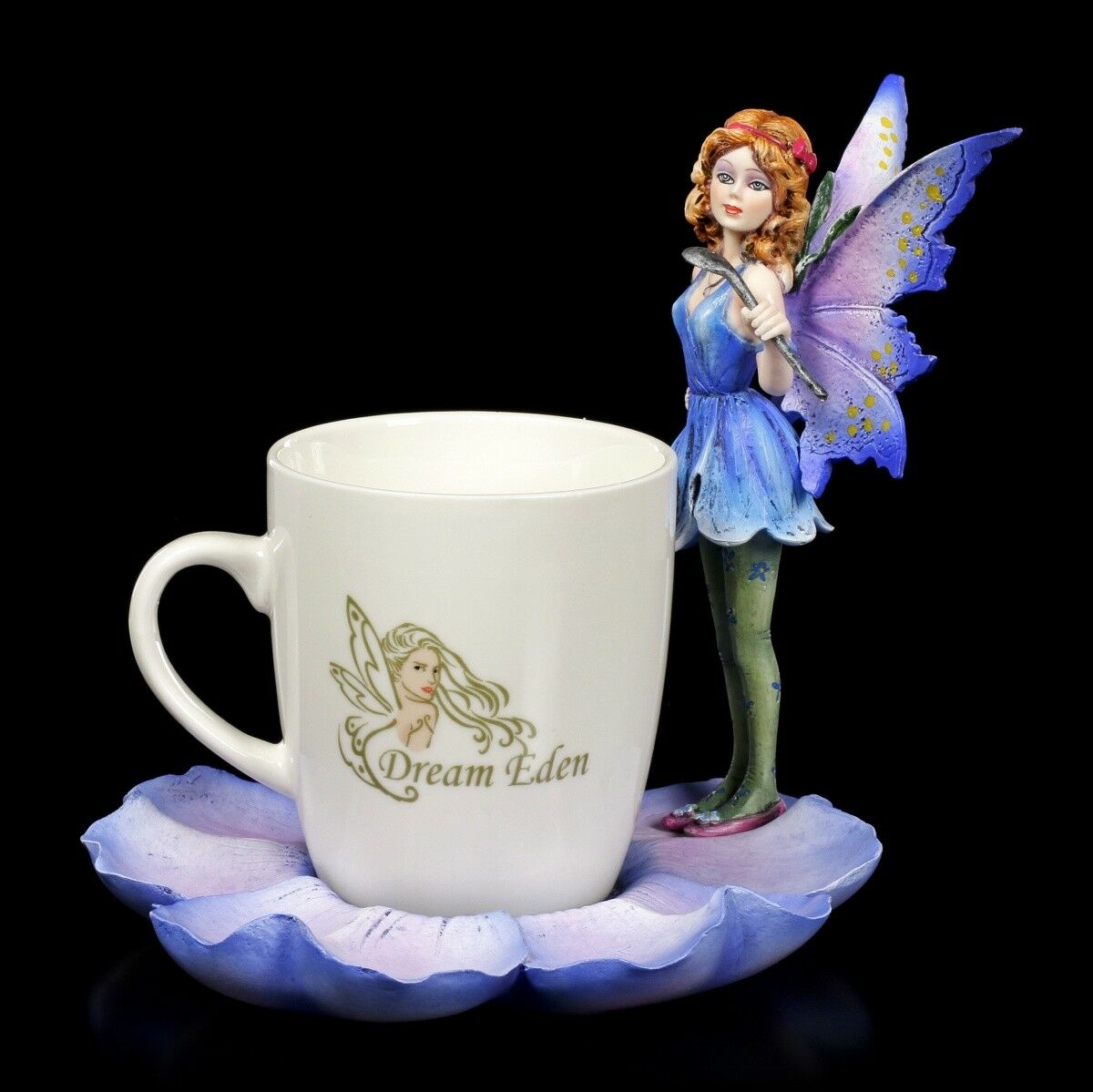 Elf Figures with Cup - bleu Fairy Mira Fantasy Fairy Coffee Mug Decorative