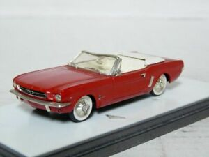 Precision-018-1-43-1964-Ford-Mustang-Cabrio-Handmade-White-Metal-Model-Car