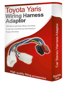 toyota yaris cd radio stereo wiring harness adapter lead loom iso image is loading toyota yaris cd radio stereo wiring harness adapter