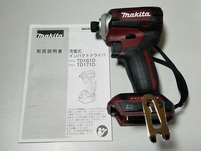 MAKITA 2018 New Model TD171DZAR Impact Driver 18V Red Body Only from Japan F//S