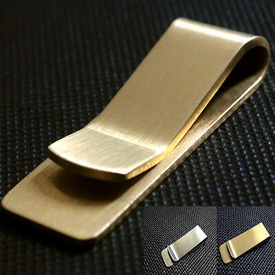 New High Quality Stainless Steel Slim Money Clip Credit Cards Holder Wallet
