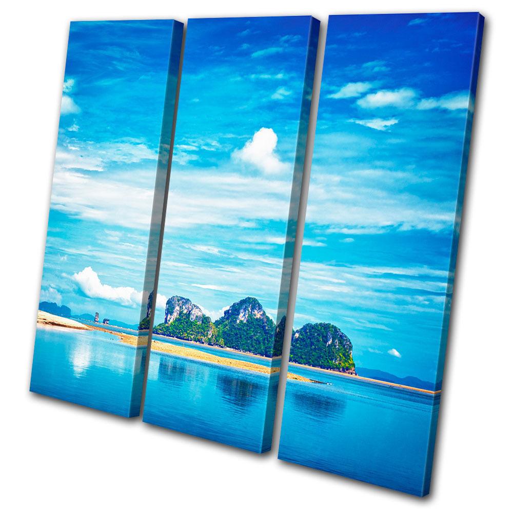 Sunset Seascape Andaman Thailand  LONA TREBLE LONA  pared arte Foto impresion f76f39