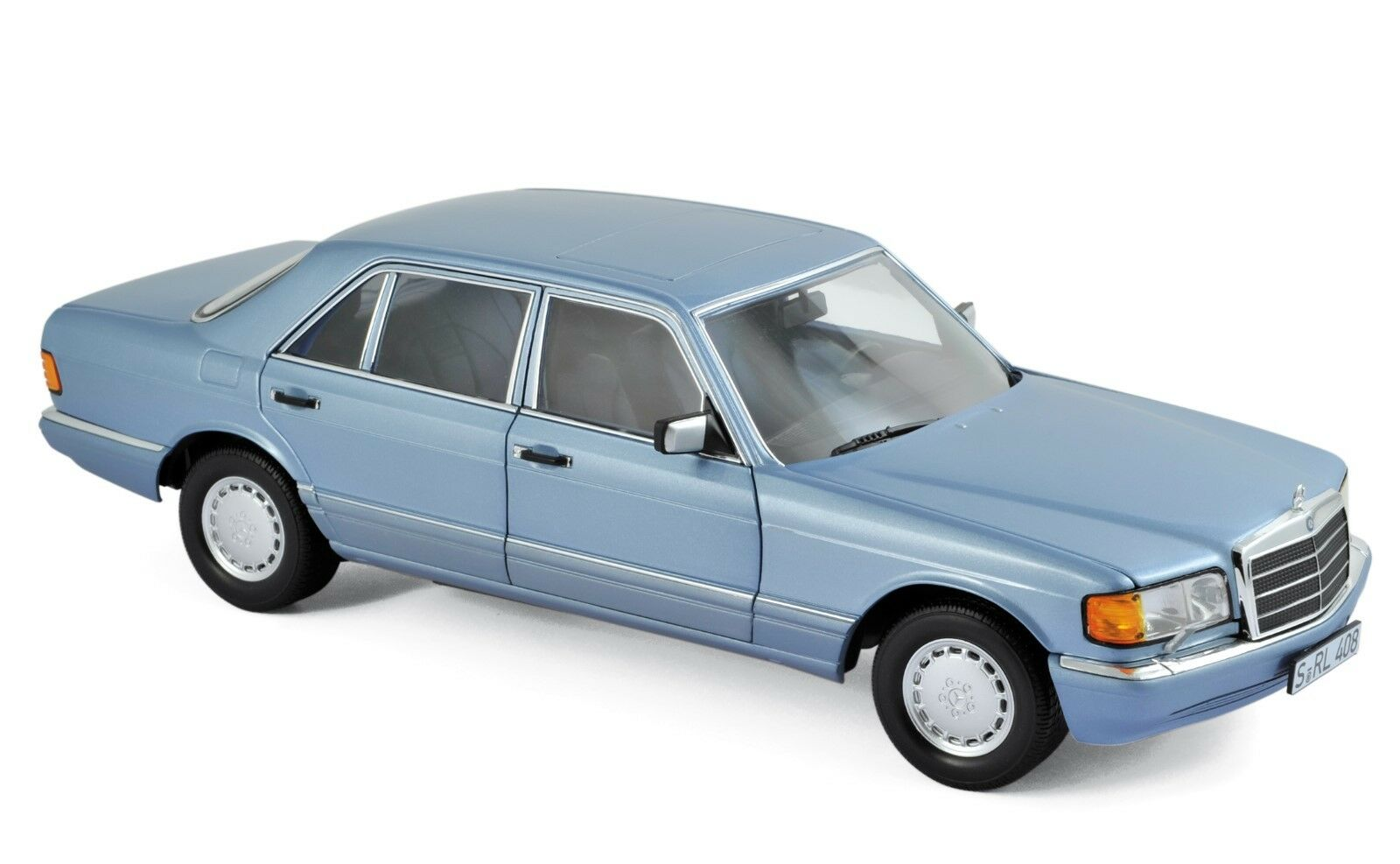 Mercedes 560 SEL 1990 Perl Bleu Métallisé 1 18 Norev 183464 NOUVEAU & NEUF dans sa boîte