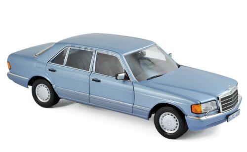 Mercedes 560 sel 1990 Perl azul metalizado 1:18 norev 183464 nuevo embalaje original /&