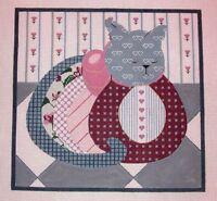 Kw 756 Calico Cat Kitty Kitten 18ct Mono Hp Hand Painted Needlepoint Canvas