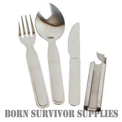 NATO Spec KFS Knife Fork Spoon Cutlery Set for Camping