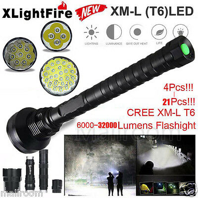 32000LM 24x XML T6 LED Taschenlampen 5Modes Fackel 26650/18650 Camping Lamp