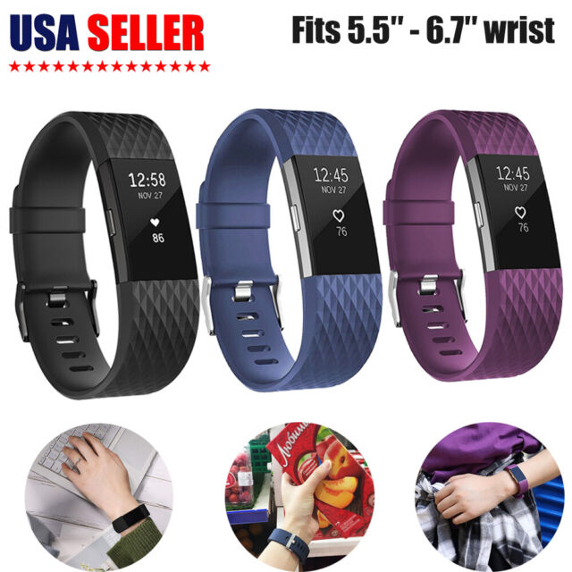 """Fitbit Charge 2 Replacement Bracelet Watch Band Heart Rate Fitness 5.5"""" - 6.7"""""""