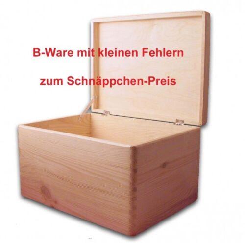 Aufbewahrungsbox// Holzkiste mit Deckel ohne Grifflöcher Kiefer B-Ware Gr 3