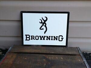 BROWNING FIRE ARMS Metal Sign Gun Shop Hunting Advertising 9x12 50094