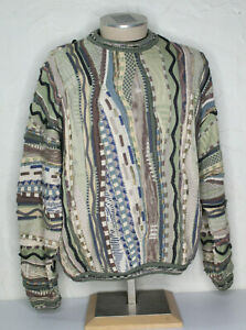 VTG-90s-Tundra-Canada-COOGI-Style-Pullover-3d-Strick-grosse-Biggie