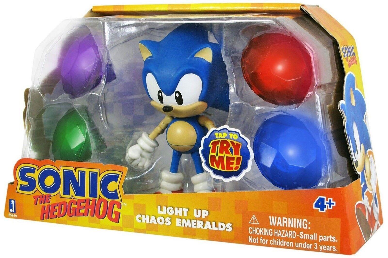 Sonic the hedgehog w   chaos smaragde (4  action figure set)
