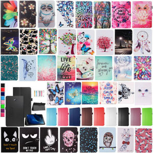 For-Samsung-Galaxy-Tab-A-10-1-T580-T585-Pattern-Leather-Stand-Folio-Case-Cover