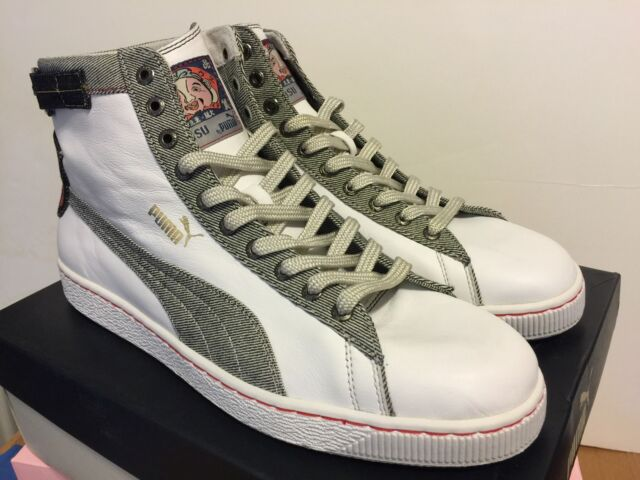 Deadstock X Navy Evisu Puma Leather 13 White Selvedge Size Denim nwUxU7A