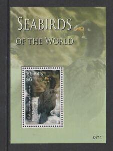 St Kitts - 2007, Mer Oiseaux Du Monde, Comorant Feuille - MNH - Sg MS908