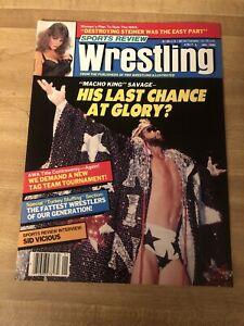 Sports Review Wrestling Magazine January 1990 Randy Savage Macho Man WWF Cover