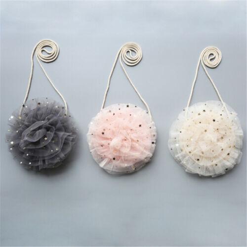 Cute Girls Baby Lace Glitter Star Purse Shoulder Crossbody Bag Handbag DP