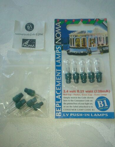 NOMA  B1  CLEAR 5 SPARE BULBS IN A PACK ** BEST VALUE**   *BE QUICK GOING FAST*
