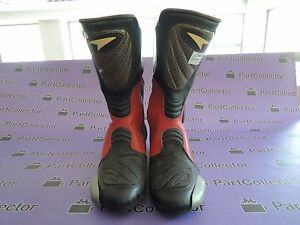 4e6b09d917 NEW AXO MOTORCYCLE MOTO RACING RACE BOOTS BLACK WHITE RED SIZE US 9 ...
