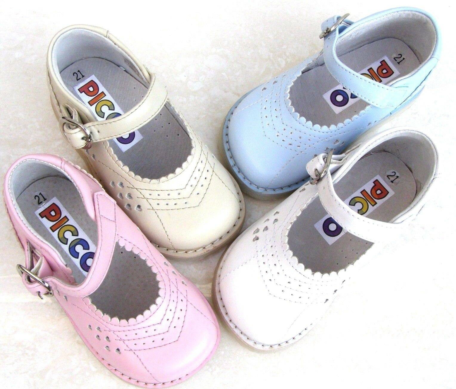 632b7174a05b Baby Girls Leather Lined Pink BALLERINAS Toe Caps PUMPS Walking ...