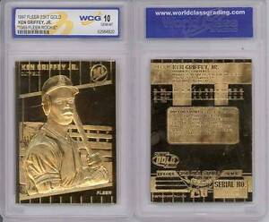 KEN-GRIFFEY-JR-1997-Fleer-23KT-Gold-Card-Graded-1989-Rookie-GEM-MINT-10-BOGO