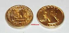 mini Pièce Plaquée OR WASHINGTON 1978 Quarter Dollar Liberty Gold 22K GE