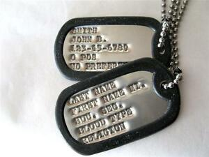 DOG TAGS MILITARY CUSTOM ARMY, UP TO 18 SPACES!! 2-EA TAGS ...