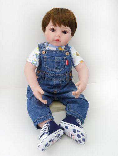 "24/"" Toddler Handmade Vinyl Silicone Reborn Baby Doll Lifelike boy Gift"