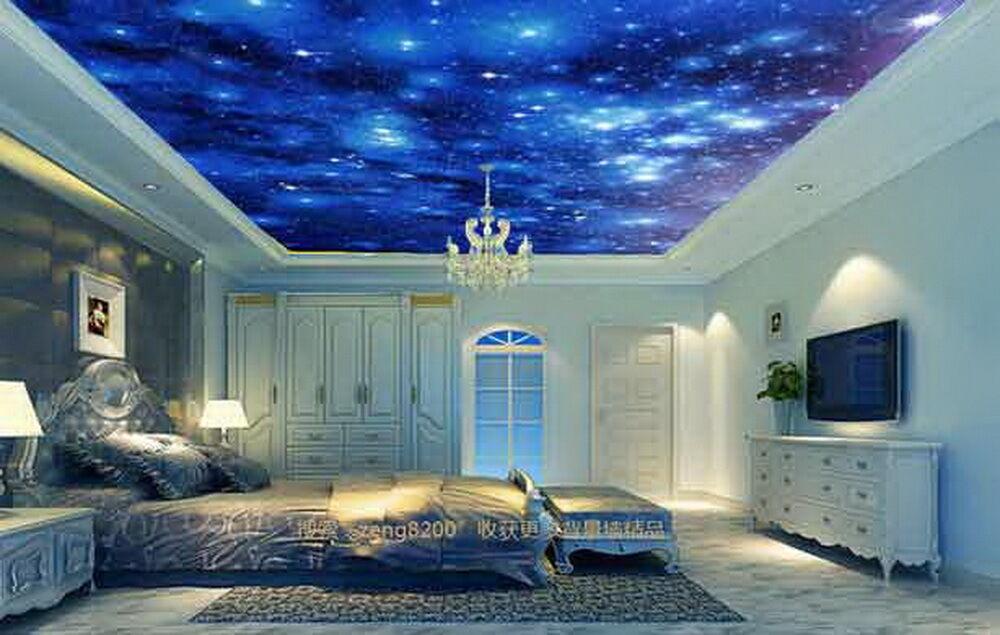 3D Twinkle Stars Night Sky  Wallpaper Ceiling Decals Wall Art Print Business