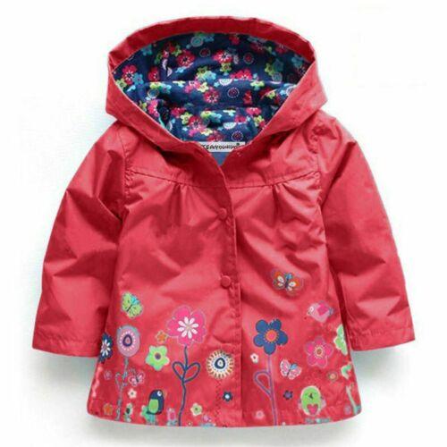 Girls Jackets Children Outerwear Hooded Coats Windbreaker Waterproof Raincoat Cl