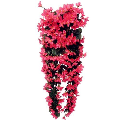 Hängende Wand-künstlicher gefälschter silk violetter Orchidee Blumen-Rattan J9X6