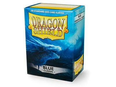 Blue AT-10003 100 Dragon Shield Classic//GLOSS STANDARD Size Card Sleeves