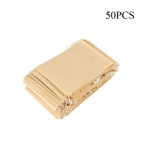 Drawstring Natural Paper Heat Seal Strainer Teabags Tea Filter Bag Teaware
