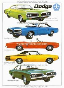1970 DODGE CORONET RANGE R/T 440 SUPER BEE A3 POSTER AD SALES BROCHURE ADVERT