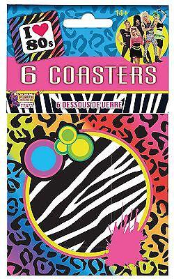 Sottobicchieri 1980s (6pc), Partito Stanza Stoviglie/costume-y Dress It-it Mostra Il Titolo Originale Aspetto Estetico