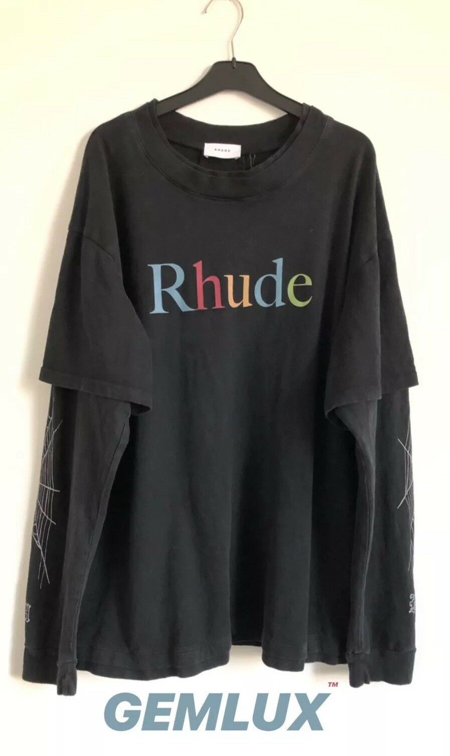RHUDE Layerot Printed Cotton-Jersey T-Shirt Größe XL   | Spielzeugwelt, glücklich und grenzenlos