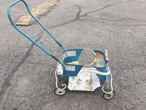 1950 s vintage metal baby strollers