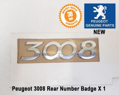 Peugeot 3008 Number Badge Logo Emblem Tailgate Rear New 8666CF Genuine