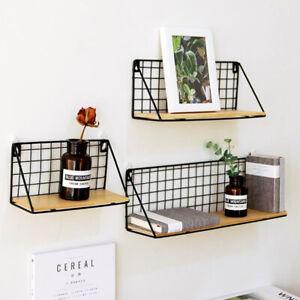 Wall Shelf Floating Mount Hanging Storage Rail Display Rack Room Home Decor AU