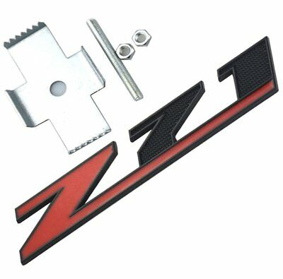 Red Black 2X OEM Red Grille Z71 4x4 Emblem Compatible for Gm Chevrolet Silverado 2500hd 3500hd Sierra Tahoe Chrome