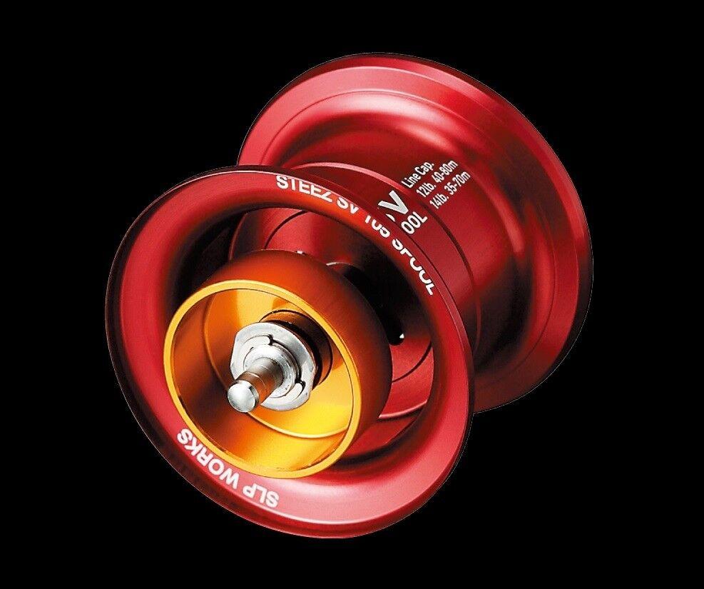 DAIWA Steez sv105 Spool rosso BOBINA DI RICAMBIO SPINN TUNING KIT SLP Works ebobina