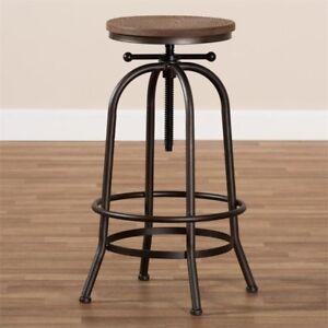Awe Inspiring Baxton Studio Aline Adjustable Steel Swivel Bar Stool In Rust Uwap Interior Chair Design Uwaporg