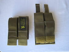 2X LBT Double Pistol Ammunition Magazine Pouch W/ Kydex Coyote Tan Navy SEAL