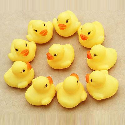 One Dozen (12) Rubber Duck Ducky Duckie Baby Shower душ Birthday Favors Trendy
