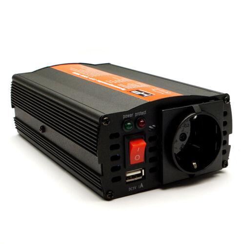 Spannungswandler 12V auf 220V//230V 300W//600W+USB Wechselrichter 90/% Sinus